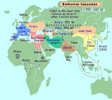 Barbarian Invasions (350-600 AD)