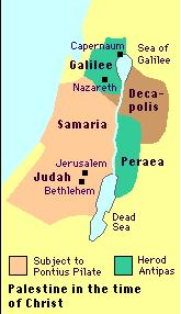 Palestine from 6 BC to 36 AD
