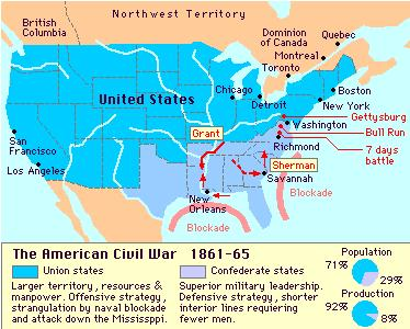 America Civil War (1861-1865)